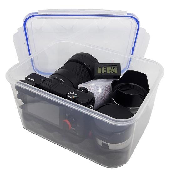 Sử dụng hộp và hạt hút ẩm cho máy ảnh