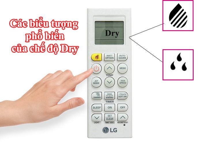 biểu tượng chế độ dry của điều hòa
