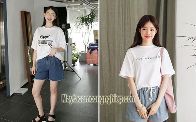 áo thun quần short dành cho người thấp