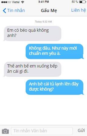 một số tin nhắn troll bạn gái