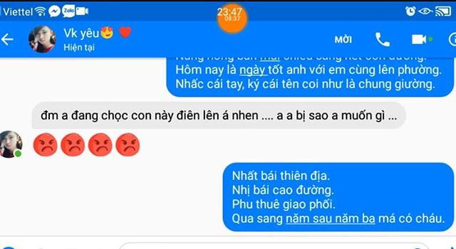 những tin nhắn troll bạn gái
